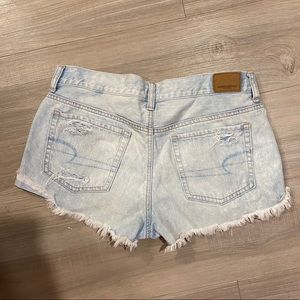 American Eagle Light Wash Distressed Ripped Shorts